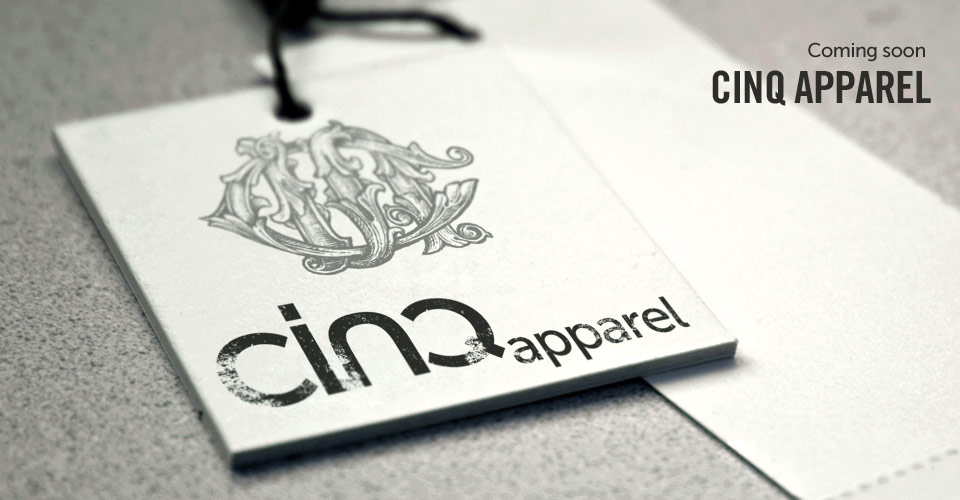 Coming soon: CINQ Apparel - limited edition tees designed by CINQ Partners