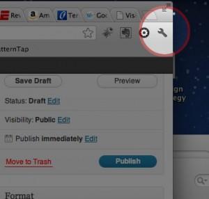 Chrome tool icon
