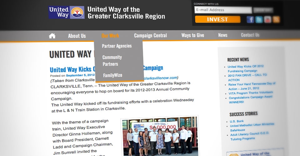 Clarksville United Way website