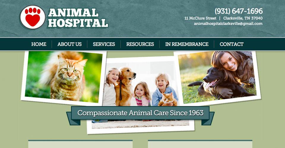 Animal Hospital website