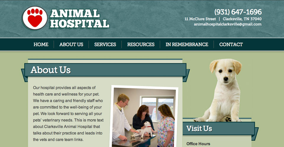 Animal Hospital website