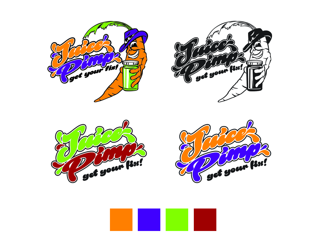 Juice Pimp - branding